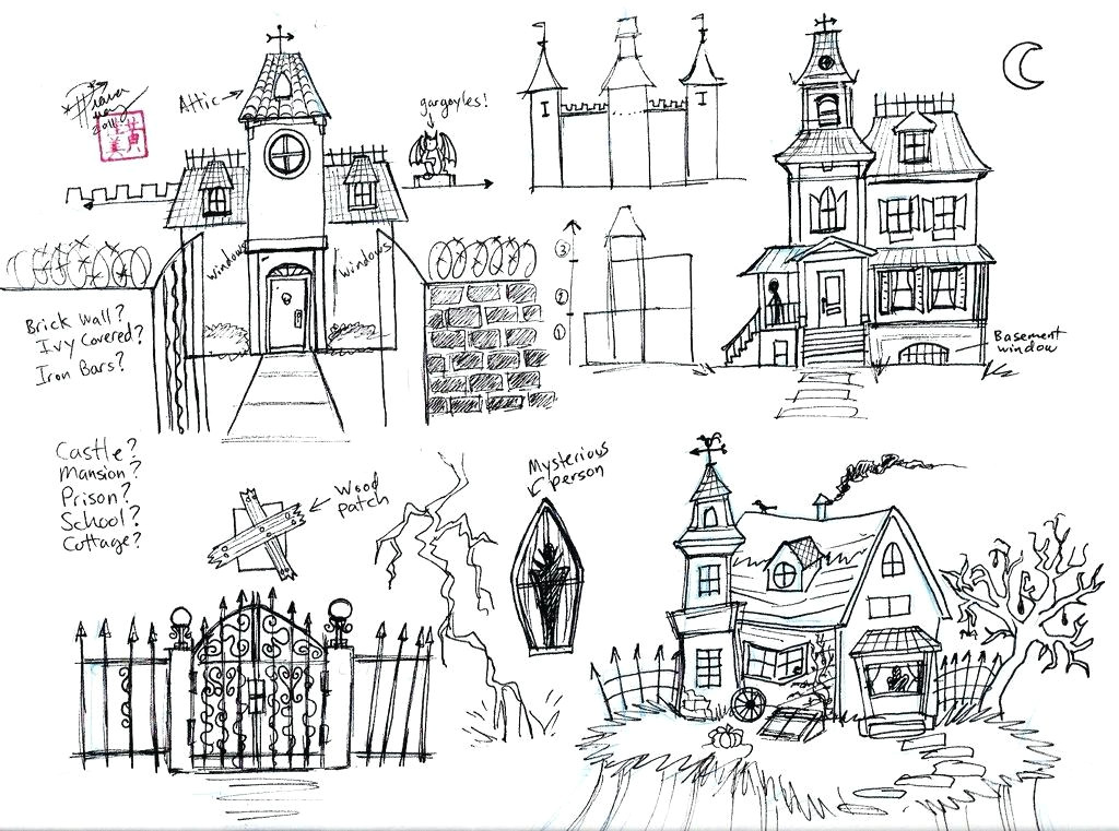 haunted house drawing 13 jpg