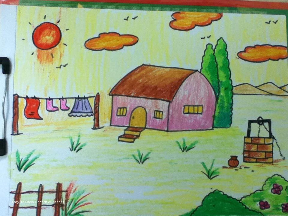 easy to draw christmas scenes simple village drawing at getdrawings of easy to draw christmas scenes jpg
