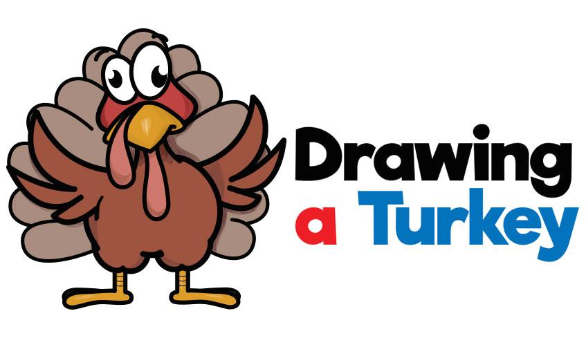 howtodraw cartoon turkey thanksgiving easy stepbystep drawing lesson beginners jpg
