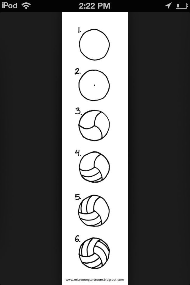 How to Draw A Volleyball Easy How to Draw A Volleyball Volleyball Training Volleyball