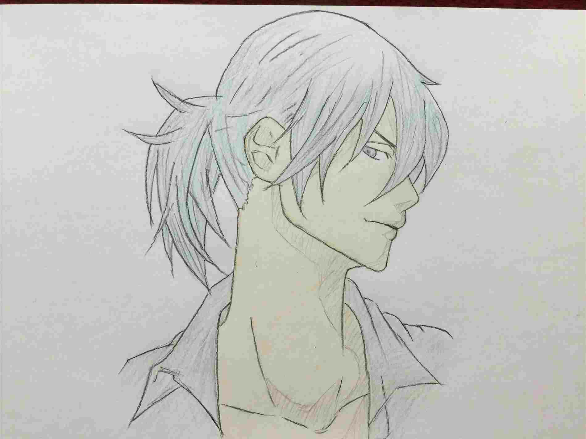 guy drawing od cute male anime men black hair green eyes tie school uniform rhpinterestcom how to draw a chibi boy with pictures wikihowrhwikihowcom how jpg