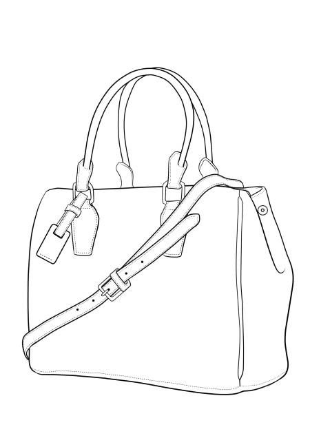 how to draw crocodile skin bag in fashion sketches step 01 jpg