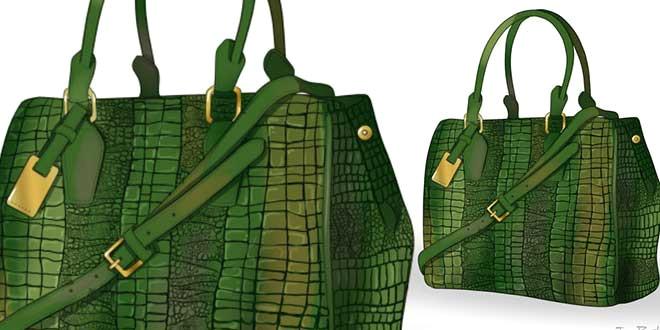 how to draw crocodile skin bag cover jpg