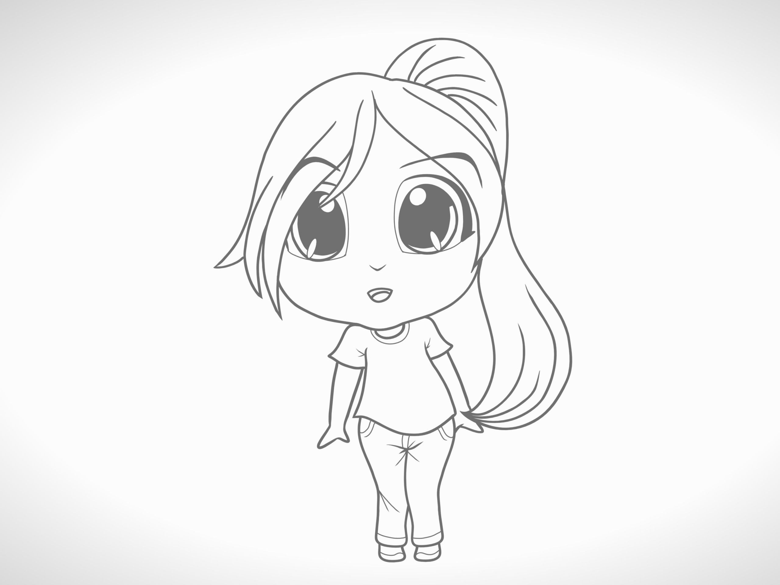 How to Draw Anime Girl Mouth Eine Chibi Figur Zeichnen 12 Schritte Mit Bildern Wikihow