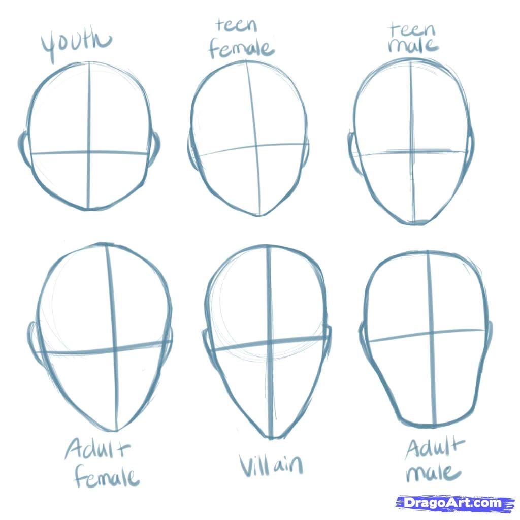 how to draw manga heads step 1 1 000000135185 5 jpg
