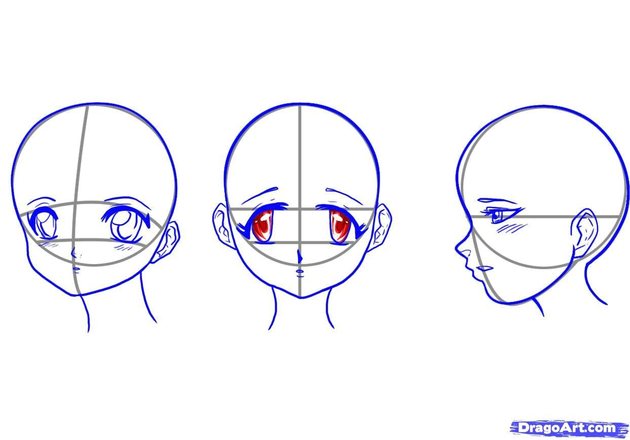 How to Draw Anime Heads Female How to Draw Manga Girls Step by Step Anime Heads Anime