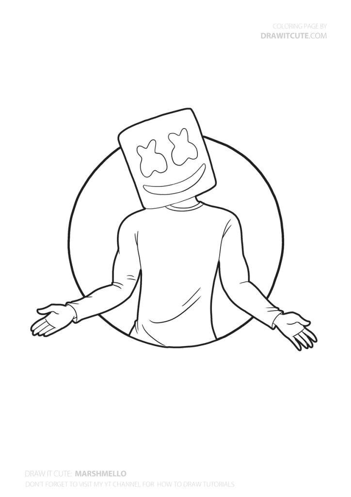 How to Draw fortnite Easy How to Draw Marshmello Super Easy fortnite Season 7