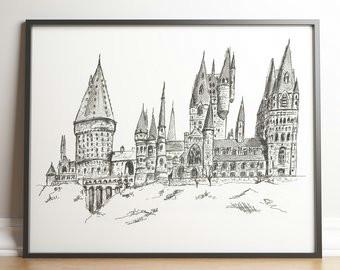 hogwarts castle drawing 16 jpg