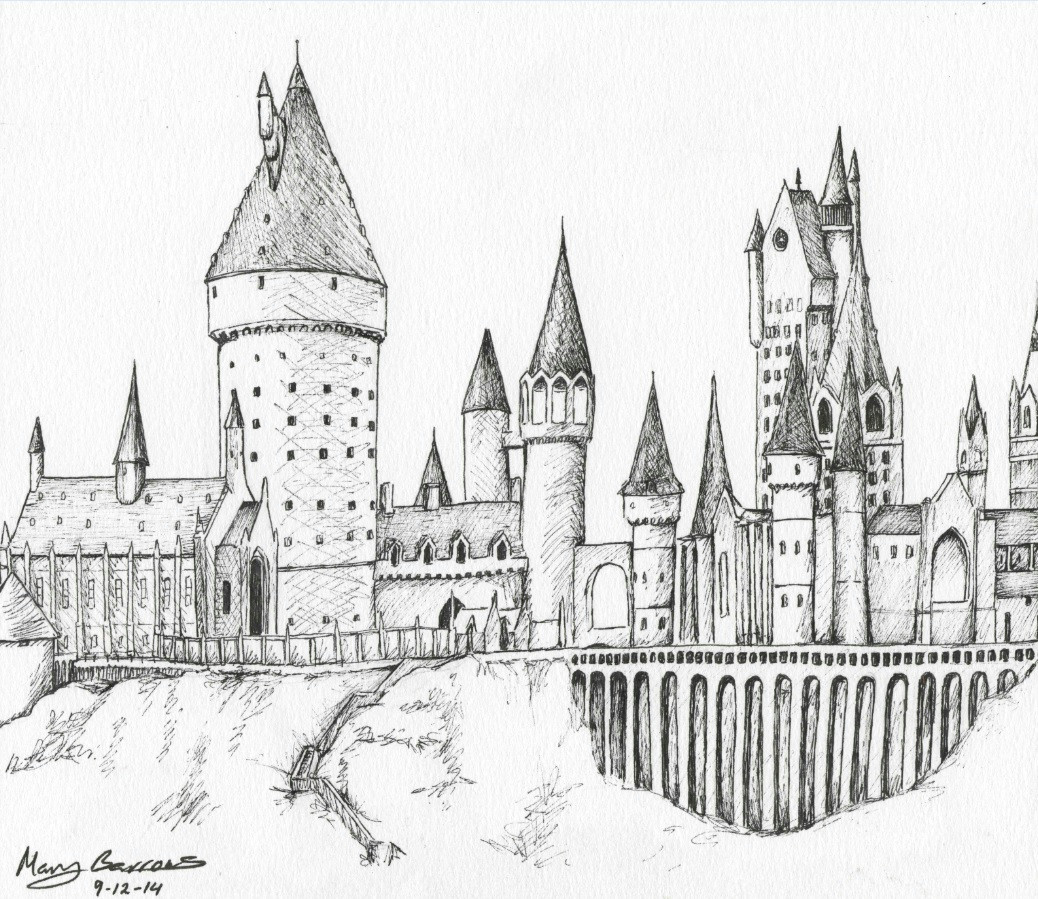 harry potter castle drawing 3 jpg