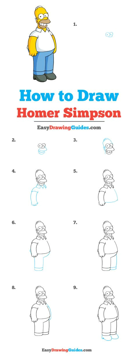 How to Draw Homer Simpson Head Easy How to Draw Homer Simpson A Study