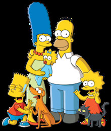 220px simpsons familypicture png