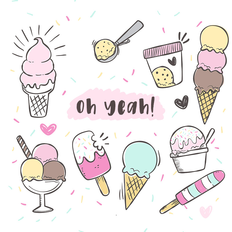 How to Draw Ice Cream Cone Easy Free Ice Cream Graphics Ice Cream Art Draw Ice Cream Ice