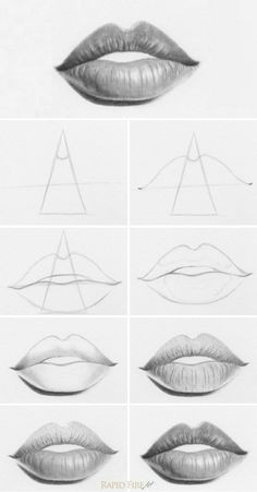 How to Draw Lips Easy Step by Step 487 Best Drawing People Images Drawing People Drawings