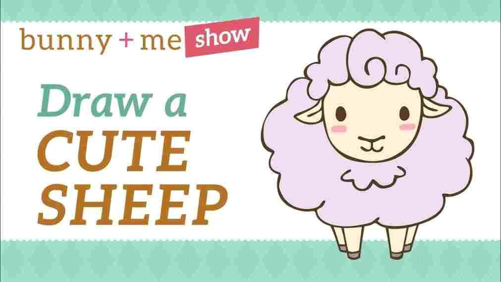 easy cute drawings od sheep drawing tutorial how to draw a youtuberhyoutubecom images for ue lamb clip art lambs pinterest rhpinterestcom images cute drawings od jpg