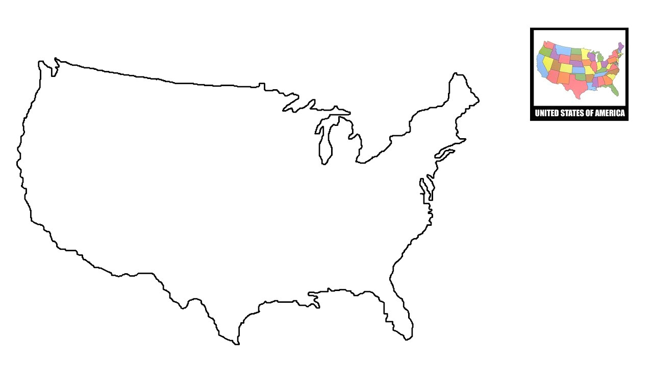 How to Draw the United States Map Easy 78 Circumstantial United States Map Easy to Draw
