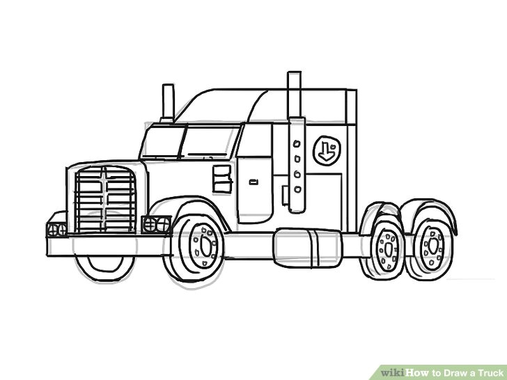 How to Draw Truck Easy 2 Easy Ways to Draw A Truck with Pictures Wikihow