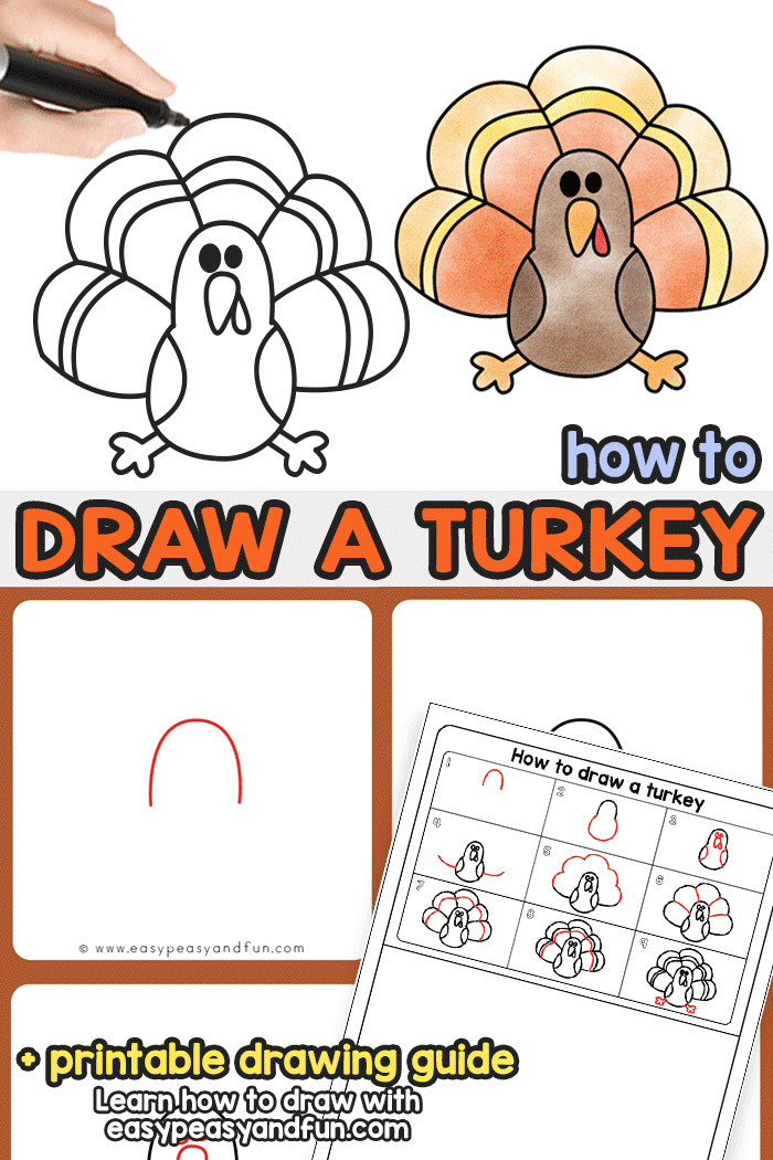 How to Draw Turkey Easy How to Draw A Turkey Turkey Drawing Thanksgiving Drawings