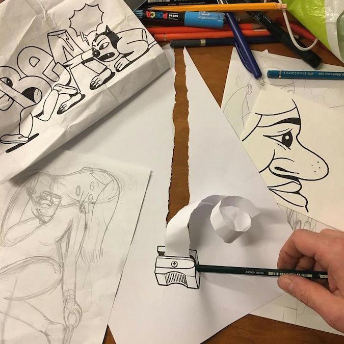 3d paper drawings huskmitnavn 49 jpg