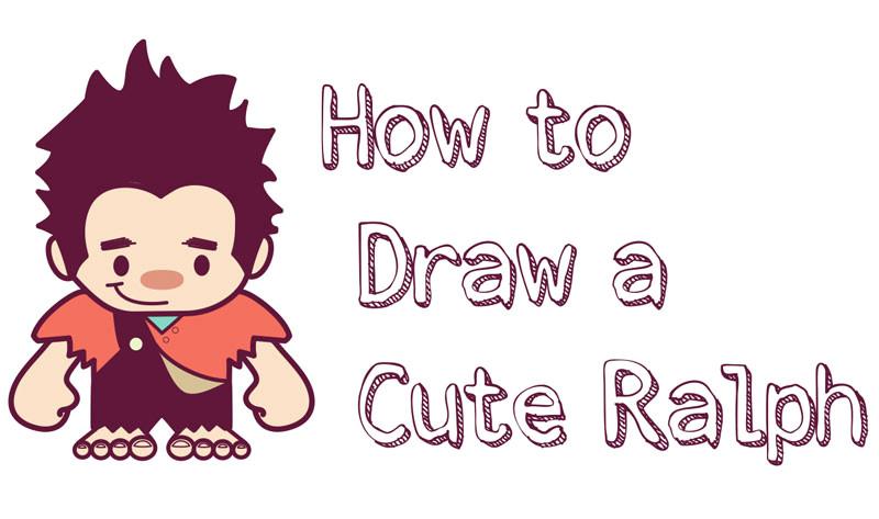 howtodraw cute chibi kawaii ralph wreckitralph easy steps tutorial jpg