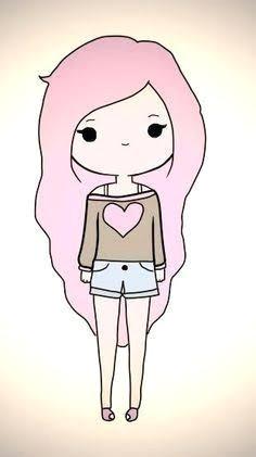Kawaii Drawings Of Girls Pink Chibi Cartoon Girl Kawaii Girl Drawings Cute Girl