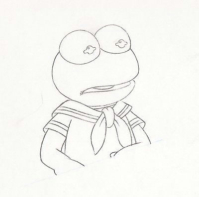 Kermit the Frog Drawing Easy Walt Disney Muppet Babies Kermit Animation Drawing Matted