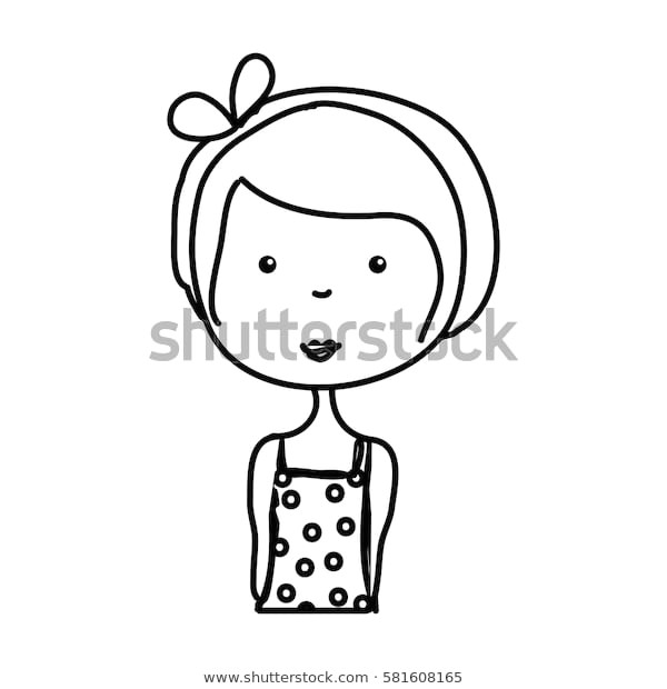 little girl drawing isolated icon 600w 581608165 jpg