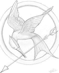 8052b35425b58dc51c04f29d6ae0bbdc hunger games tattoo hunger games drawings jpg
