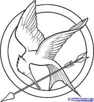 Mockingjay Pin Drawing Easy Image Result for Mockingjay Pin Template Hunger Games