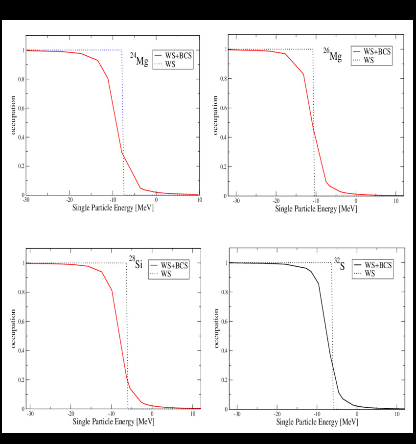 proton occupation probabilities near the fermi surface for the nuclei 24 12 mg 26 12 mg png