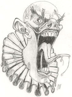 51163eb699f34c6cba99027efb0ba38d scary clown drawing halloween drawings jpg