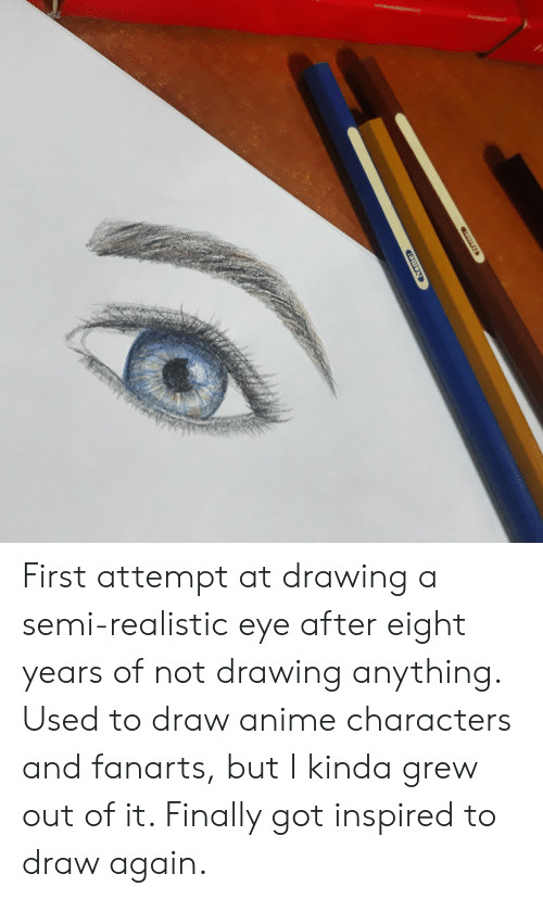 first attempt at drawing a semi realistic eye after eight years 45484393 png