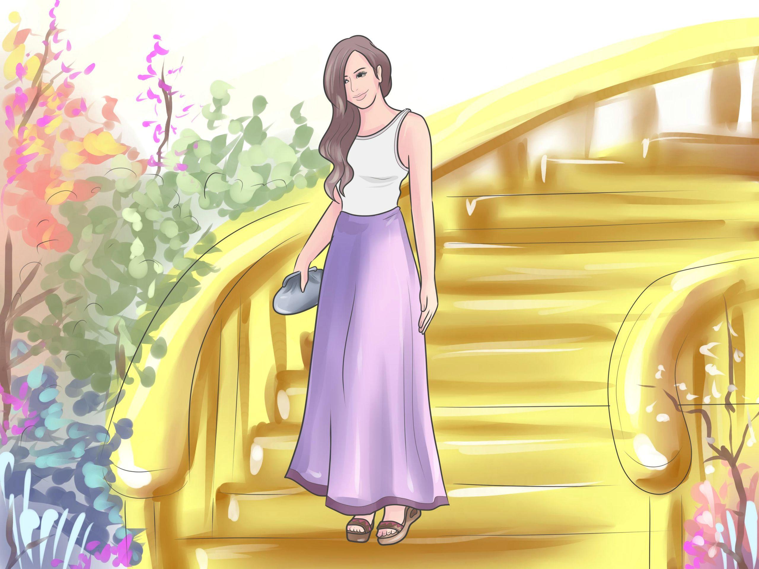 turn an old dress into a maxi skirt step 7 jpg