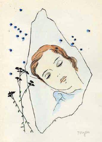 Sleeping Girl Drawing A Girl Sleeping Under the Stars toyen 1944 In 2020