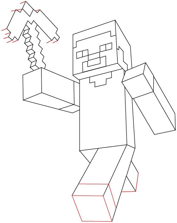minecraft bilder zum ausdrucken schon how to draw steve with a pickaxe from minecraft with easy step by of minecraft bilder zum ausdrucken png