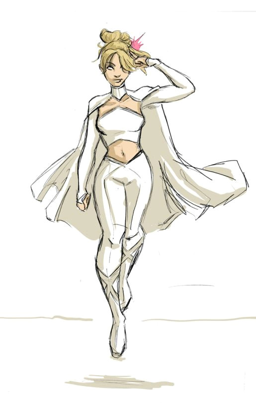 Superhero Costume Ideas Drawing Emma Frost Fashion Redesign Project X Men Art Em Ma Emma