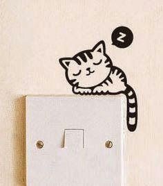 Switchboard Drawing Ideas A Revolua A O Do Vinil In 2019 Cat Light Wall Decals Decor