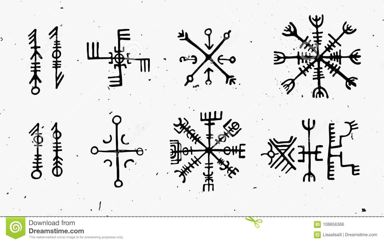 futhark norse islandic viking runes set magic hand draw symbols as scripted talismans vector set ancient runes futhark 108856366 jpg