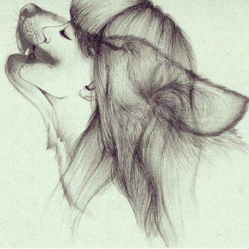 wolf girl drawing 52 jpg