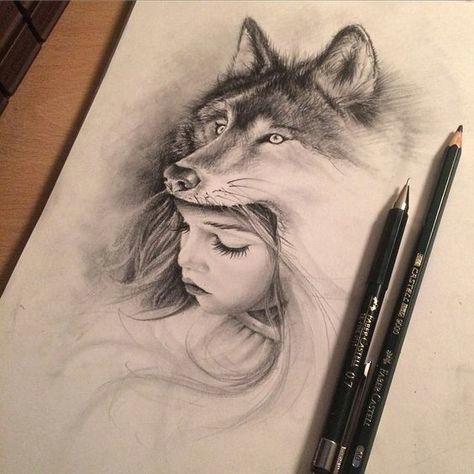 7787af66ecb29d5f7ecc0d4dd6d748d1 wolf girl girl drawings jpg
