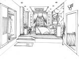 0 Point Perspective Drawing This is My One Point Perspective Drawing Of A Designed Bedroom Re