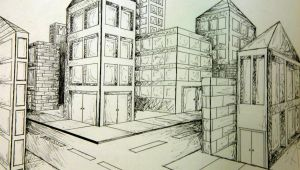 2 Point Perspective Drawing Easy 2 Point Perspective City Art Point Perspective Perspective