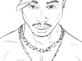2pac Easy Drawing How to Draw Tupac Shakur Famous Singers Art and Music Drawings