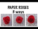 3 Ways to Draw A Rose Kako Napraviti Rua U Od Papira 3 Naa Ina How to Make Paper Roses