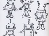 5 Cartoon Drawings Da Colorare Lessons 3 5 Pinterest Drawings Robot and Robot Art