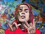 6ix9ine Cartoon Drawing 6ix9ine Drawing Art In 2019 Pinterest Rapper Art Rap