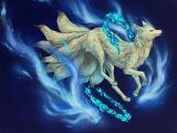 9 Tails Drawing White Nine Tailed Fox Anime and Magna Nine Tailed Fox Fox Art Fox