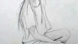 A Girl Drawing Easy Drawing Of A Sitting Modern Girl Girl Art Drawing