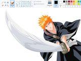A Program for Drawing Anime Desenhando Anime No Paint Ichigo Kurosaki Bleach Youtube