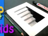 Amazing Easy Drawings 3d 3d Drawing Cellar Stairs Step by Step Very Easy for Kids 3 D