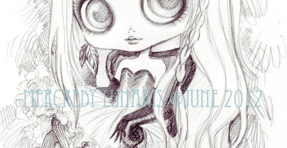 Anime Drawing Doll Blythe Drawing by Mercredy Lunaris Art Drawings Pencil